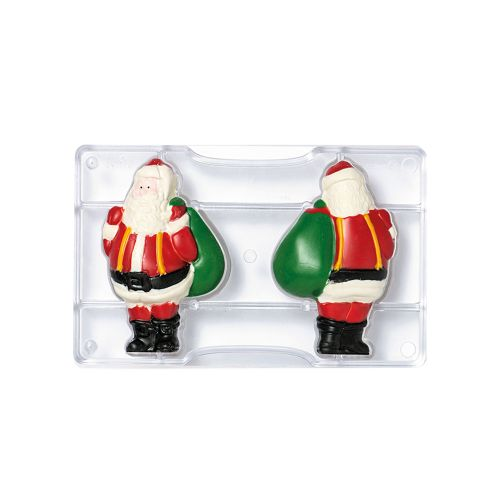 Forma de Chocolate em Policarbonato Papai Noel Grande - Decora