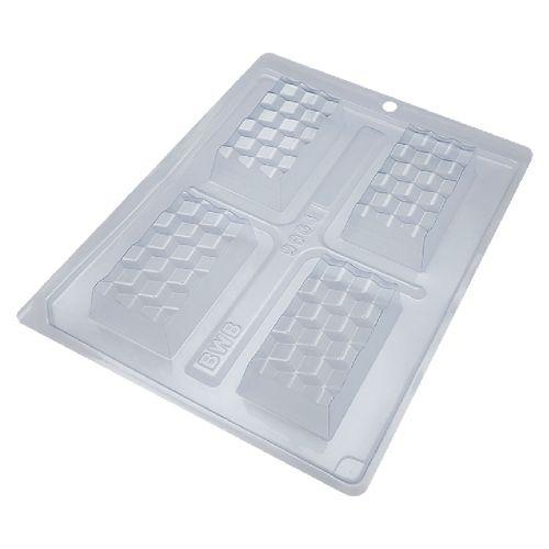 Forma de Chocolate em Acetato com Silicone Tablete/Barra Mini Tablete 3D - BWB