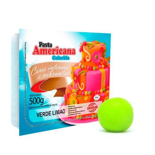 Pasta Americana Verde Limão 500g - Arcolor