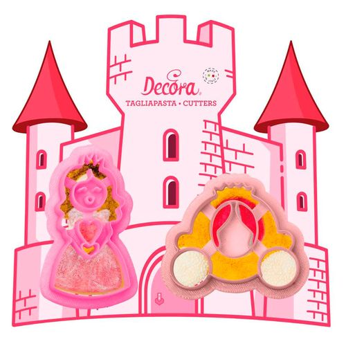 Kit Cortadores Carruagem e Princesa (2pcs) - Decora