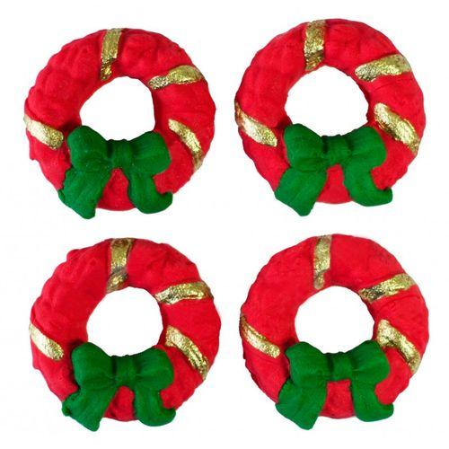 Enfeite de Natal em Açúcar Guirlanda (4uni) - Jady Confeitos