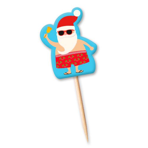 Tag Papai Noel Verão (12uni) - Miss Cupcake