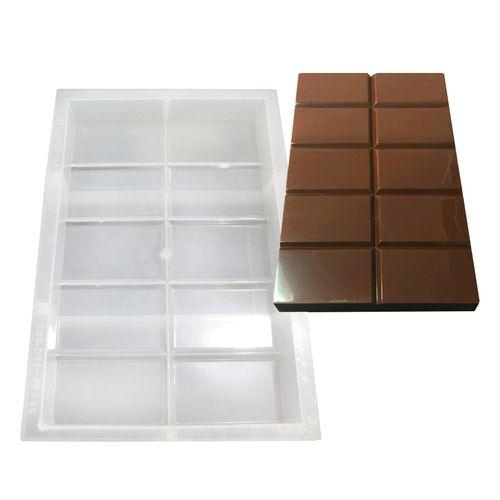 Forma de Chocolate em Polipropileno Tablete/Barra 1kg - Cristal Formas