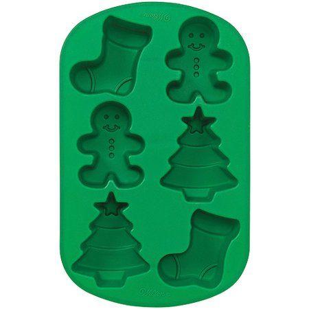 Forma em Silicone Mini Bolos de Natal - Wilton