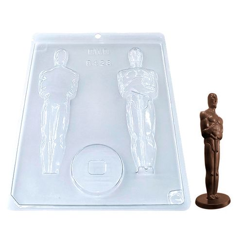 Forma de Chocolate Acetato Estatueta Oscar Grande (10 uni) - BWB