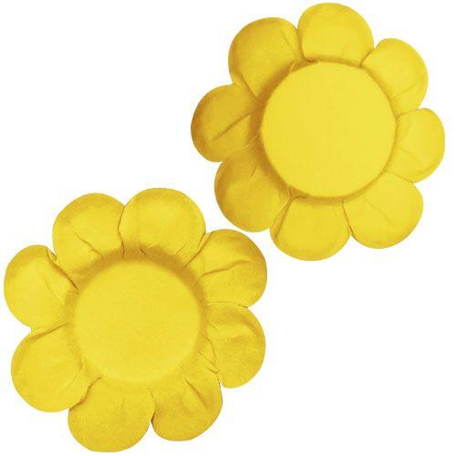 Forminha para Doce Margarida Lisa - Amarela (50 uni)