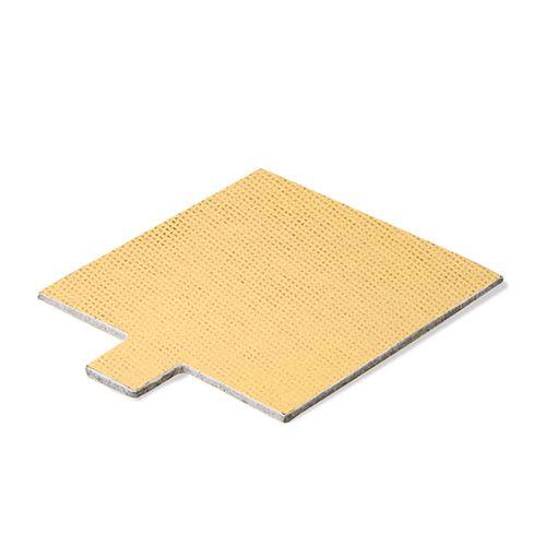 Base Laminada Quadrada Dourada para Doces 7,5cm (50uni)