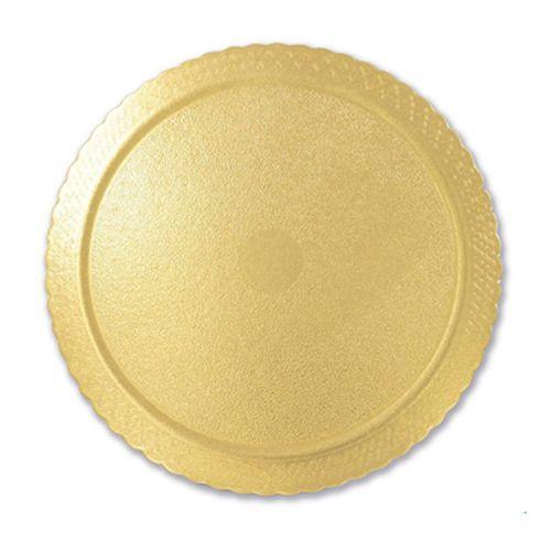 Base para Bolo Cakeboard Redonda Ouro 32cm (10uni) – Ultrafest