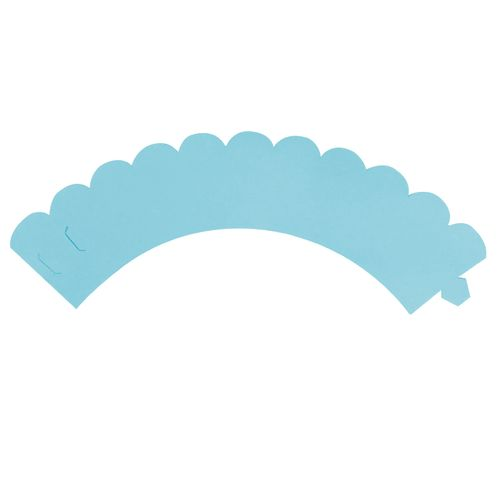 Saia de Mini Cupcake Wrapper Azul Claro(12uni) - Mimo