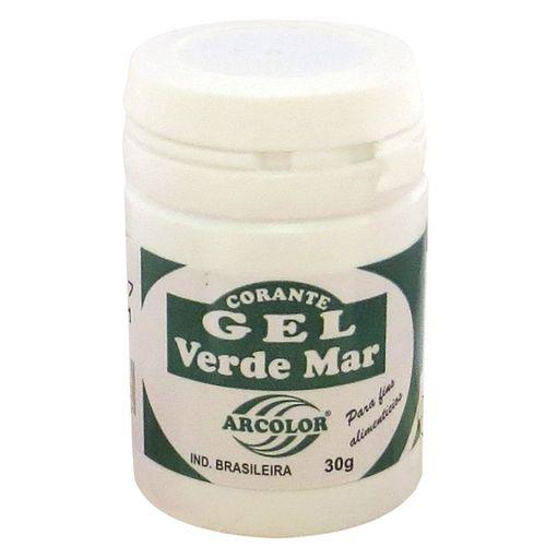 Corante gel Arcolor 30ml - Verde Mar
