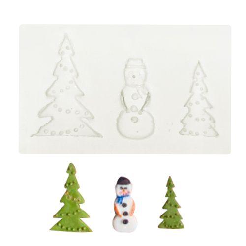 Molde de Silicone Árvore e Boneco de Natal - Gummies