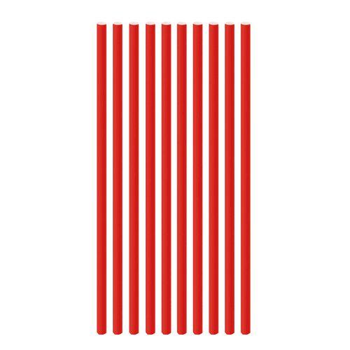 Canudo de Papel Liso Vermelho (20 uni) - Cromus