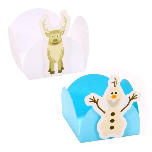 Forminha para Doce 4 Pétalas Boneco para Neve e Rena (24uni) - Papel Confeito