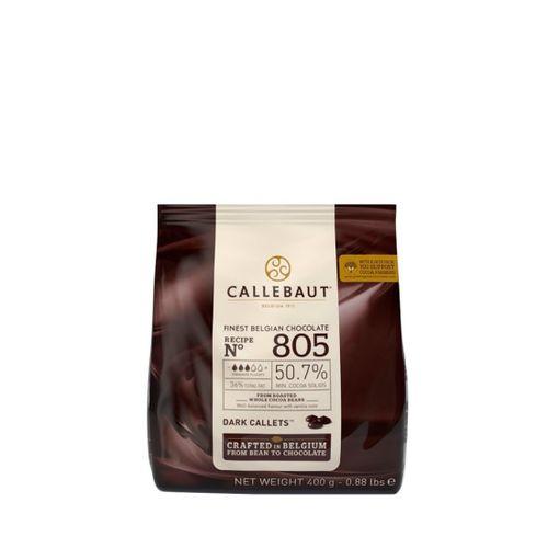 Chocolate Callebaut Amargo 50,7% Cacau nº 805 - em Callets (400g) - Callebaut