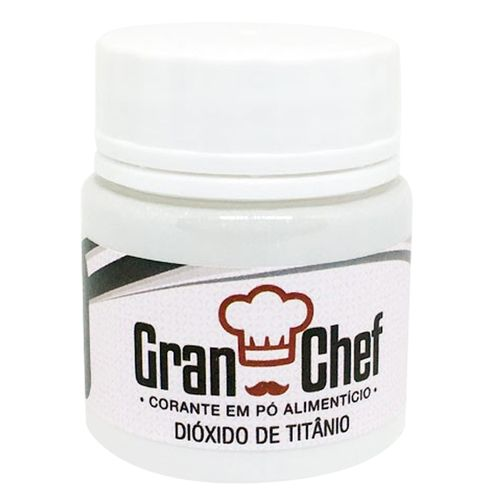 Corante em Pó Branco Dióxido de Titânio 15g Hidro/Lipossolúvel - Gran Chef