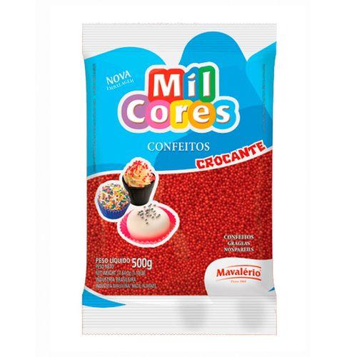 Confeito Miçanga Mil Cores n°0 (500g) - Vermelha