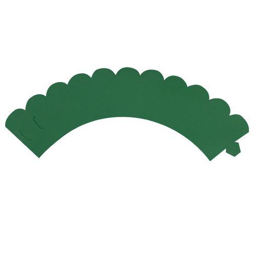 Saia de Mini Cupcake Wrapper Verde Bandeira (12uni) - Mimo