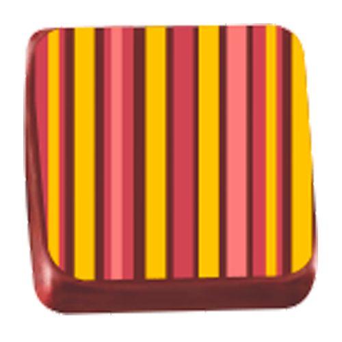Transfer para Chocolate (40 x 30cm) - Listras Amarelo e Vermelho
