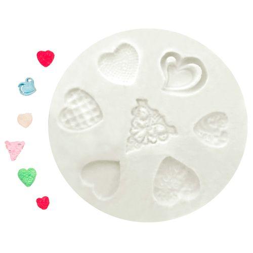 Molde de Silicone Conjunto de Corações - Gummies