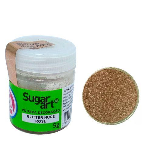 Glitter em Pó para Decoração Nude Rose (5g) - SugarArt