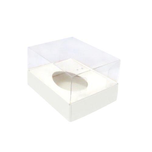 Caixa Ovo de Colher 50g Branca (10uni) - ArtCrystal