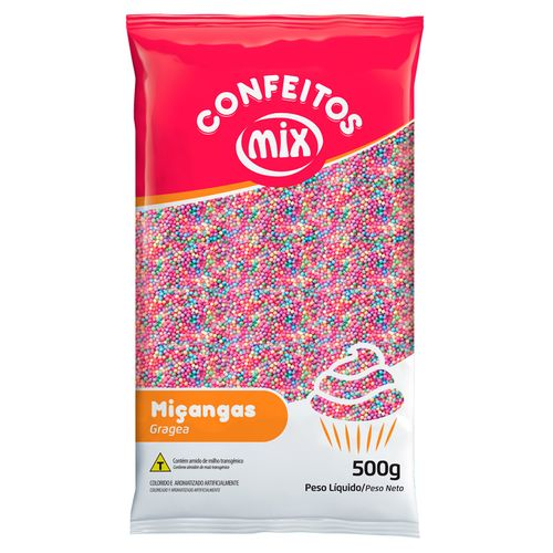 Confeito Miçanga Candy Colors (500g) - Mix