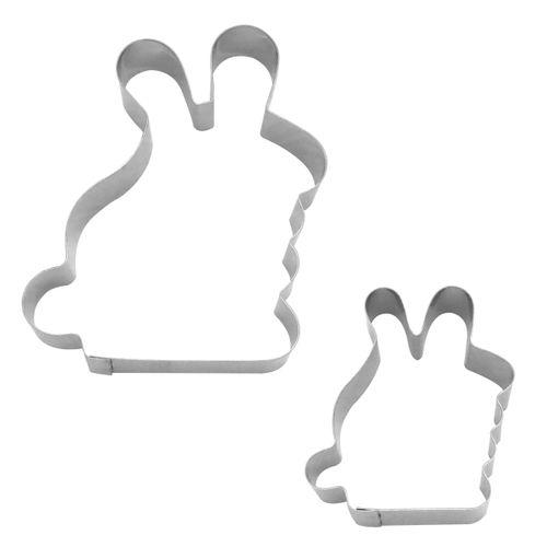 Kit Cortadores de Páscoa Coelhos Sentados - RM