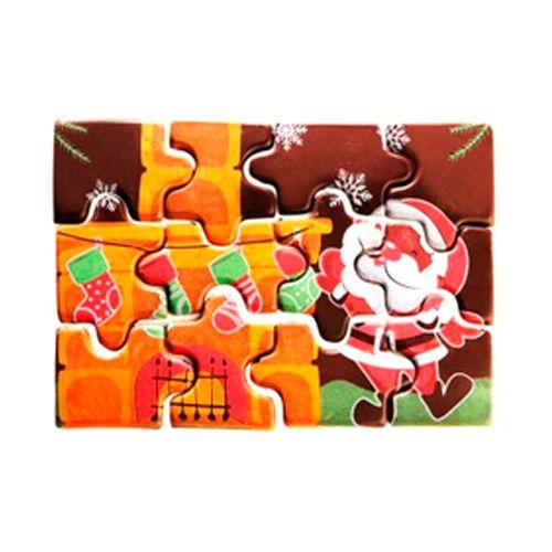 Blister Quebra Cabeça Chocolate - Noel Lareira