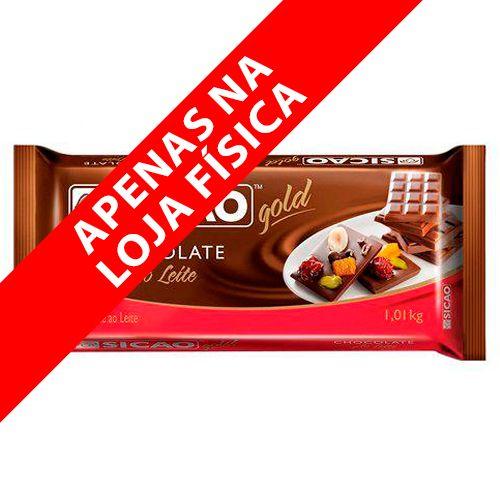 Chocolate Sicao Gold ao Leite Barra (1,01kg) - Sicao