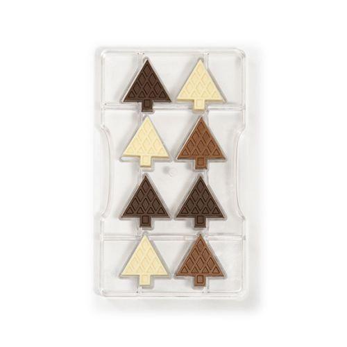 Forma de Chocolate em Policarbonato Pinheirinho Abete - Decora
