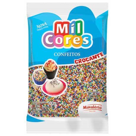 Confeito Miçanga Mil Cores n°0 (500g) - Colorida