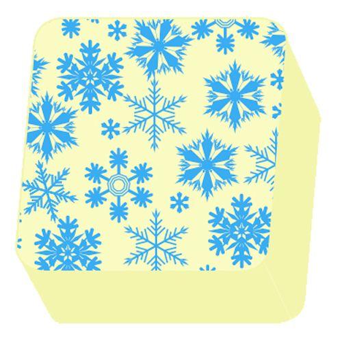 Transfer para Chocolate (40 x 30cm) - Flocos de Neve Azul