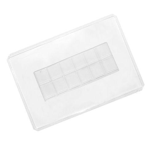 Forma de Chocolate em Acetato Tablete/Barra Fina (5uni) - Cristal Formas
