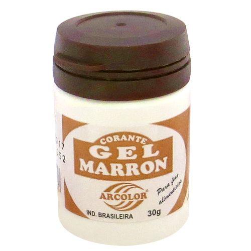 Corante gel Arcolor 30ml - Marrom