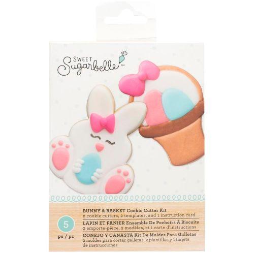 Kit Decoração de Biscoito Coelho e Cesta - Sweet Sugarbelle