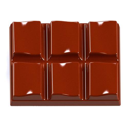 Forma de Chocolate em Policarbonato Tablete/Barra 40g - Gramado Injetados