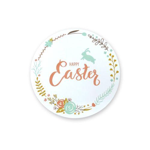 Adesivos Happy Easter para Páscoa Pequeno (5uni) - Papel e Confeito
