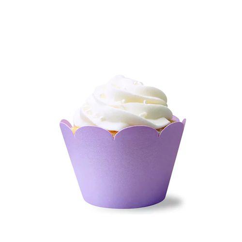 Saia de Mini Cupcake Wrapper Lilás (12uni) - Mimo