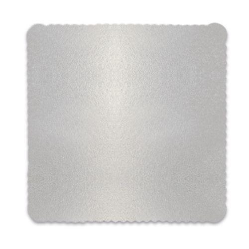 Base para Bolo Cakeboard Quadrada Prata 32cm (10uni) – Ultrafest
