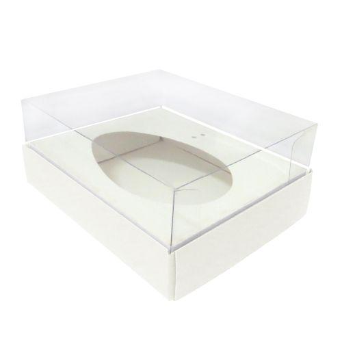 Caixa Ovo de Colher 250g Branca (5uni) - ArtCrystal