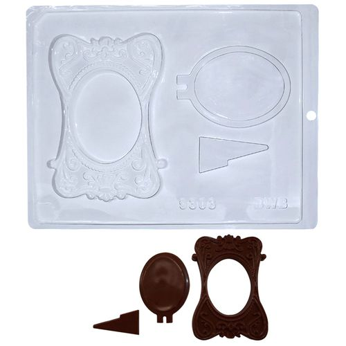 Forma de Chocolate Acetato Porta Retrato Grande (10 uni) - BWB