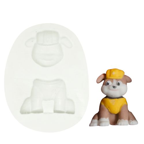 Molde de Silicone Patrulha Canina Rubble - Gummies