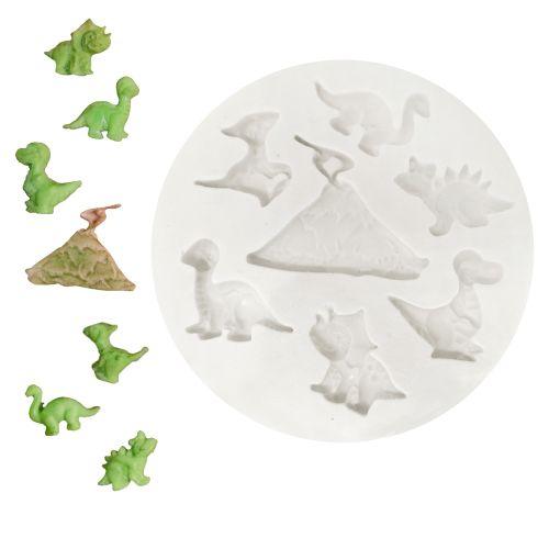 Molde de Silicone Mini Dinossauros - Gummies