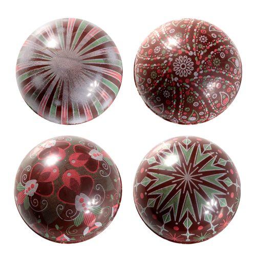 Blister Bola de Natal de Chocolate 7cm (8uni) Adornos - Stalden