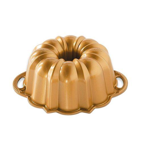 Forma para Bolo Bundt Aniversário Médio Gold - Nordic Ware