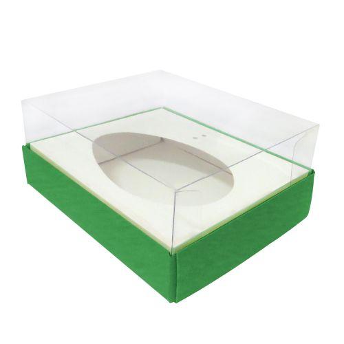 Caixa Ovo de Colher 250g Verde (5uni) - ArtCrystal