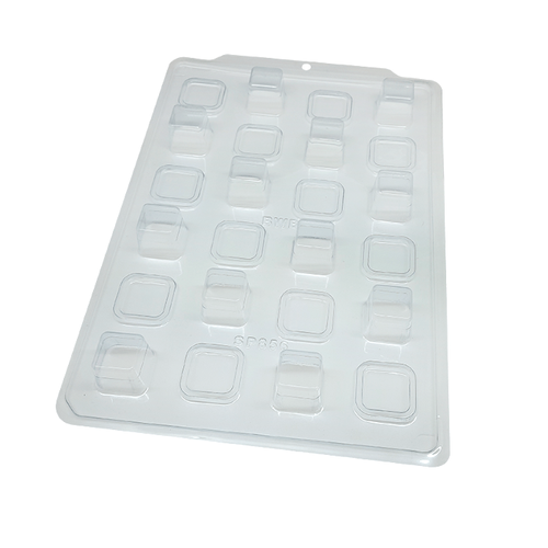 Forma de Chocolate Acetato com Silicone Mini Caixa Quadrada - BWB Premium