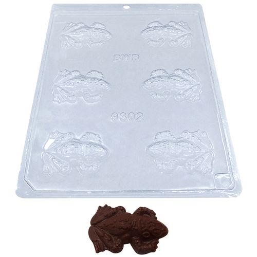 Forma de Chocolate Acetato Sapo (10 uni) - BWB