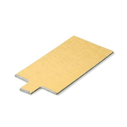 Base Laminada Retangular Dourada para Doces 10 X 5,5cm (25uni)