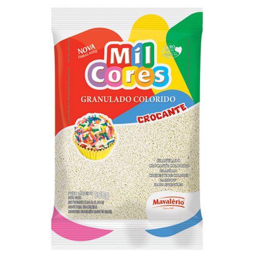 Granulado Crocante Branco 500g - Mil Cores